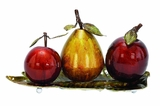 Modern Metal Fruit Decor Designed with Artistic Detailing Brand Woodland