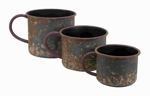 Modern Metal Planter with Classic Cup Design (Set of 3) Brand Woodland
