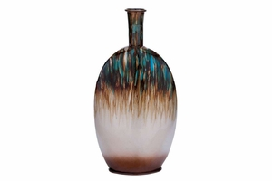 Modern Metal Vase with Intricate Design and Slender Neck Brand Woodland