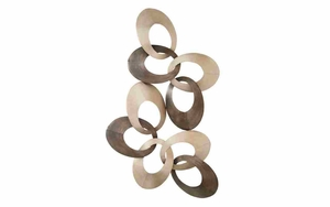 Modern Metal Wall Decor With Complex Interlocking Rings Brand Woodland