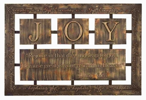 Modern Metal Wall Plaque with Sturdy Design in Brown Finish Brand Woodland