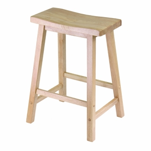 """Modern Piece of Saddle Seat 24"""" Stool by Winsome Woods"""