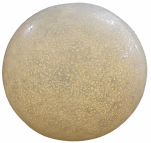 Modern Polished Sandstone Ball with Outdoor Light and Glass Brand Screen Gem