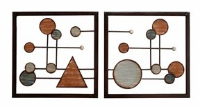 Modern Reflections Metal Wall Art Decor Sculpture - Set of 2 Brand Woodland