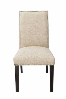 Modern Sand Colored Polyester Blend Burnett Parson Chair by 4D Concepts