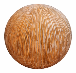 Modern Sandstone Ball with Outdoor Light in Ribbed Finish Brand Screen Gem