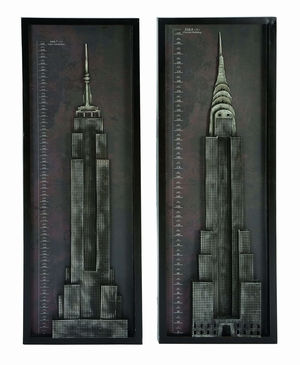 Modern Skyscraper Wall Decor From New York And Chicago Brand Woodland