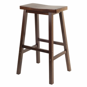 "Modern & Splendid 29"" Saddle Seat Stool by Winsome Woods"