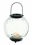 Modern Styled Indian Metal Glass Lantern by Woodland Import