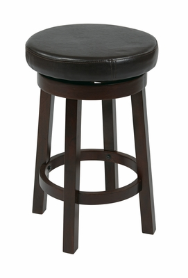 Modern Styled Metro Wooden Circular Barstool by Office Star