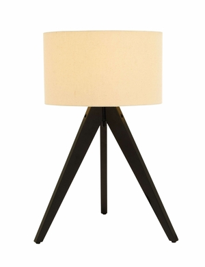 Modern Three Legged Table Lamp With Unique Stand Brand Woodland