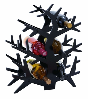Modern Tree Branch Wine Rack With 6 Horizontal Slots Brand Woodland