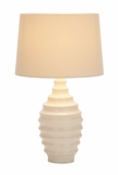 Modern Victorian Table Lamp - White Lamp With Wide Base Brand Woodland