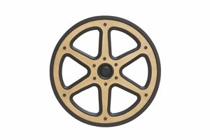 Modern Wood Movie Reel Crafted with Sturdy Fine Detailing Brand Woodland