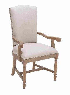 "Modern Wooden 42"" Vintage Arm Chair with Sturdy Construction Brand Woodland"