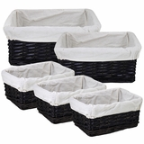 Modish and Useful 5pc Willow Utility Basket by Entrada by Entrada