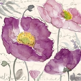 Modish Styled Artistic Purple Poppies I Painting by Yosemite Home Decor