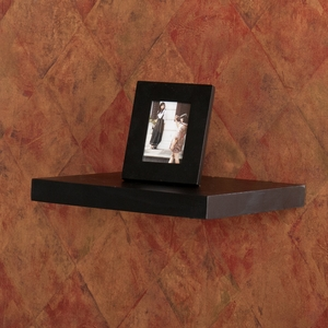 Modish Styled Aspen Floating Shelf Black by Southern Enterprises