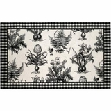 Modish Styled Black & White Botanical Hooked Rug by 123 Creations