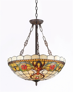 Modish Tiffany-Style Victorian Ceiling Pendant by Chloe Lighting