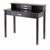 Modular Dark Espresso Liso 2pc Home Office Set with Desk and Hutch by Winsome Woods