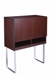 Modular Laminate Series Doors for Hutch - 2 Door- Mocha by Boss Chair