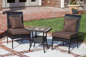 Molde Three-piece Bistro Set, Voguish And Shimmering Outdoor Home Decor by Well Travel Living