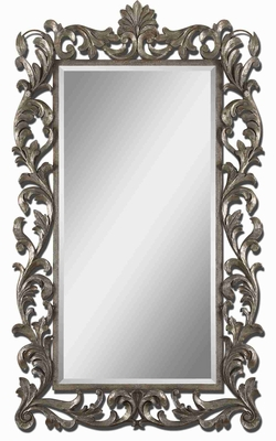 Molise Oversized Mirror with Slightly Antiqued Silver Leaf Finish Brand Uttermost