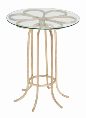 Montreuil Marvelous Flower Design Accent Table Brand Benzara