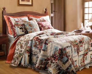 Montrose Cotton Quilt Queen Set, With 2 Pillows 90 Inch X 90 Inch Brand Greenland Home fashions