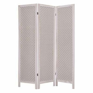 Moonbeam Fabric Screen Wood Frame with Artistic Detailing Brand Screen Gem