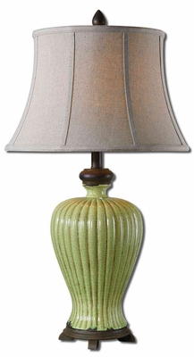 Morbello Antique Green Table Lamp with Detailing Brand Uttermost