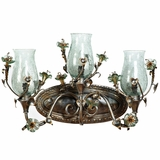 Morning Glory Collection Classic 3 Light Vanity Lighting in Caribbean Gold by Yosemite Home Decor
