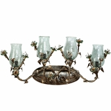 Morning Glory Collection Customary Styled 4 Lights Vanity Lighting in Caribbean Gold by Yosemite Home Decor