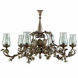 Morning Glory Collection Outstandingly Styled 6 Light Chandelier with hade in Caribbean Gold by Yosemite Home Decor