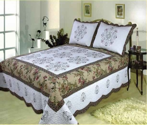 Morocco handmade quilt with detailed pattern super king size 118 x 102 Brand Elegant Decor