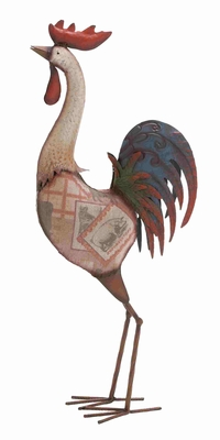 Morocco Sassy Styled Funky Metal Rooster Brand Benzara