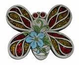 Mosaic Butterfly Stepping Stone - Display of 4 by Alpine Corp