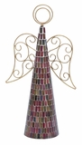 "Mosaic Mirror Metal Angel Glass Decor 19""H, 11""W by Woodland Import"
