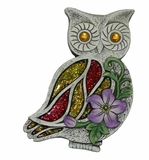 Mosaic Owl Stepping Stone - Display of 4 by Alpine Corp