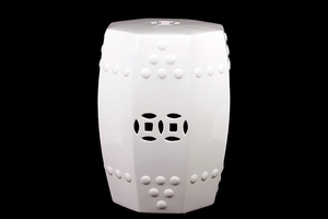 Moscow's Attractive Fancy Ceramic Stool White