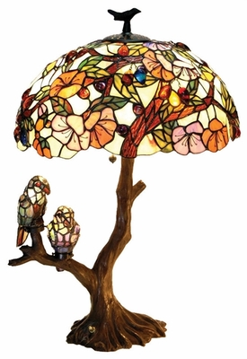 Most Beautiful Birds Double Lite Table Lamp by Chloe Lighting
