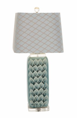 Most Beautiful Ceramic Acrylic Table Lamp by Woodland Import