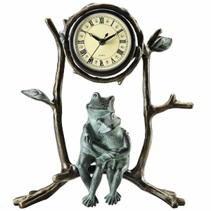 Mother & Baby Frog Clock A Beautifully Sculptured Table Clock Brand SPI-HOME