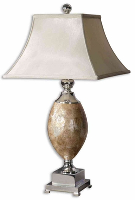 Mother Of Pearl Table Lamp with Plated Metal Accents Brand Uttermost