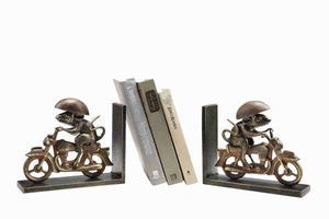 Motorcycling Mouse Bookends Makes Reading A Passion Brand SPI-HOME