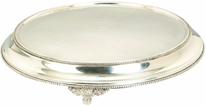 Elegant Meatl Finish Round Cake Stand - 30423 by Benzara