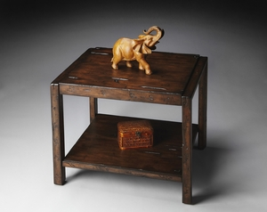 """Mountain Lodge End Table 28""""W by Butler Specialty"""