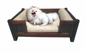 Mouscron Pet Bed, Fluffy and Fashionably Carved Unit by D-Art