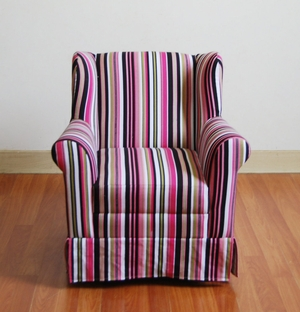 Multi Colored Girls Wingback Arm Chair by 4D Concepts